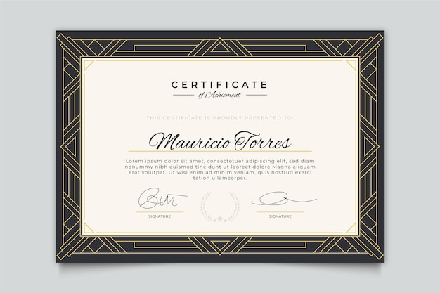 Elegant style certificate template
