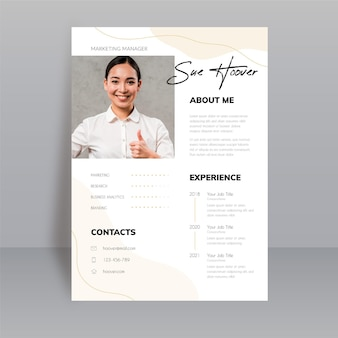 Elegant style cv template with photo