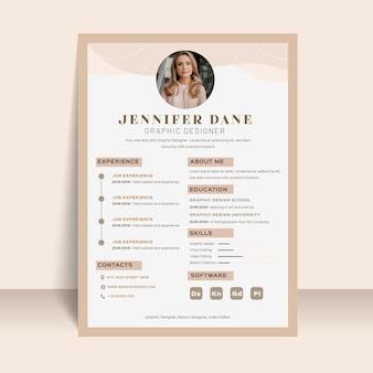 Elegant style resume template