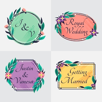 Elegant style wedding monograms
