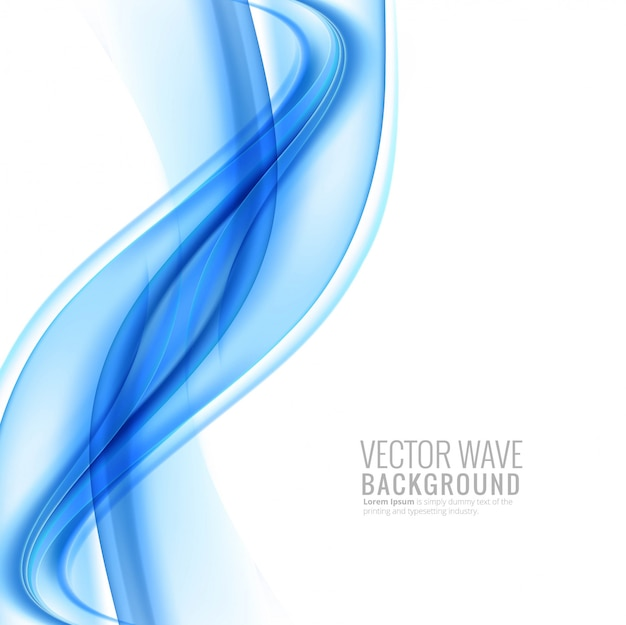 Elegant stylish blue flowing wave background