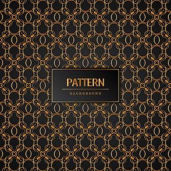 Элегантный стильный золотой узор фона