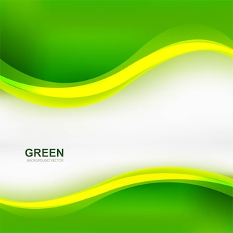 Elegant stylish green wave background