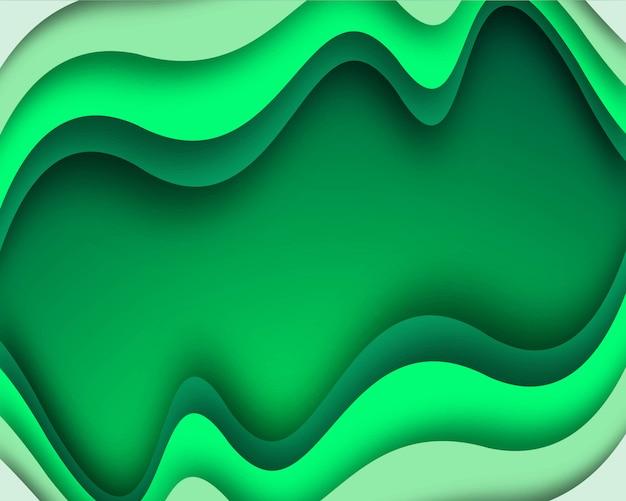 Элегантный стильный зеленый фон волны