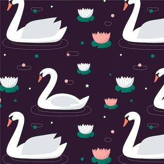 エレガントな白鳥パターンのコンセプト