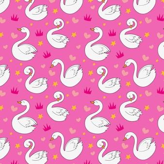 Elegant swan pattern style