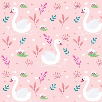 エレガントな白鳥のパターンのテーマ