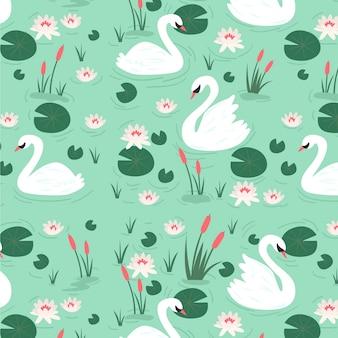Elegant swan pattern