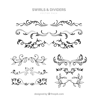 Elegant swirls and dividers vector pack