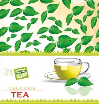 Elegant tea menu card