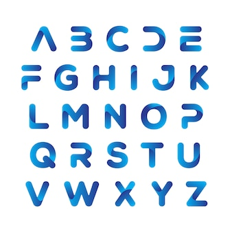 Элегантный техно-шрифт