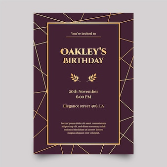 Elegant template birthday invitation