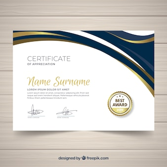Elegant template certificate