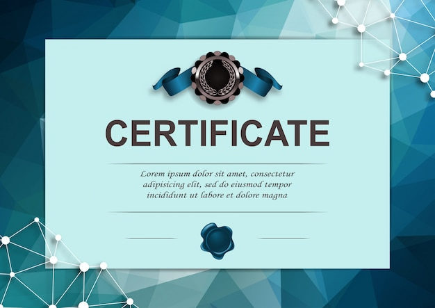 Elegant template of certificate