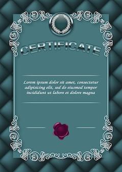 Elegant template of certificate