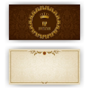 Elegant template for luxury invitation card