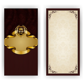 Elegant template for luxury invitation greeting card