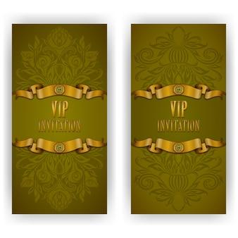 Elegant template luxury invitation, greeting vip card