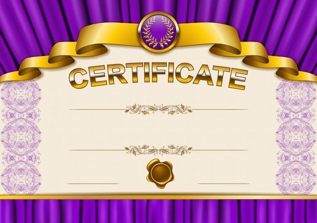 Элегантный шаблон сертификата Premium векторы