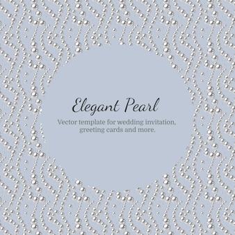 Elegant template with pearl pattern.