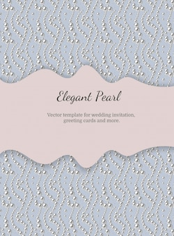 Elegant template with pearl pattern