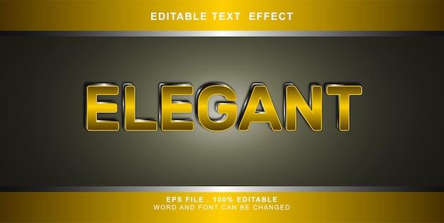 Elegant text effect editable