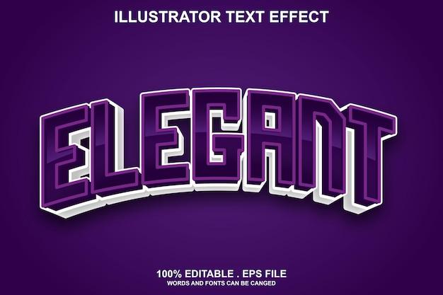 Элегантный текстовый эффект редактируемый