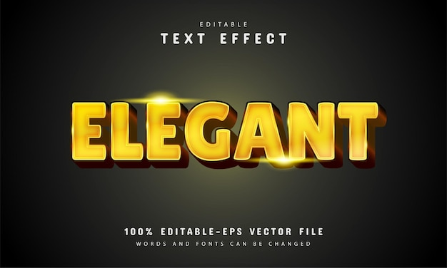Elegant text effect with gold color