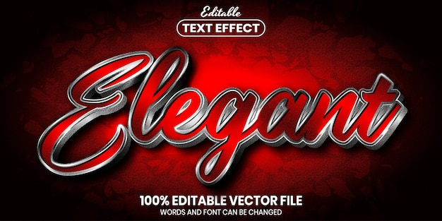 エレガントなテキスト、フォントスタイルの編集可能なテキスト効果