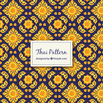 Elegant thai pattern with flat design