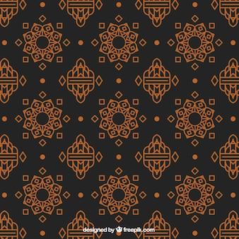 Elegant thai pattern with flat design