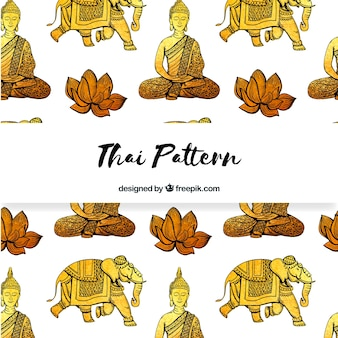 Elegant thai pattern with golden style