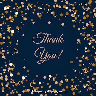 Elegant thank you composition with confetti