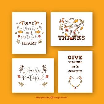 Elegant thanksgiving cards