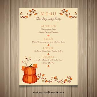 Elegant thanksgiving menu