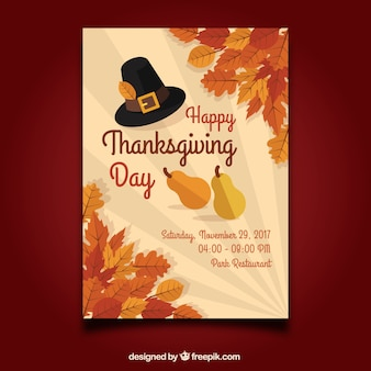 Elegant thanksgiving poster template