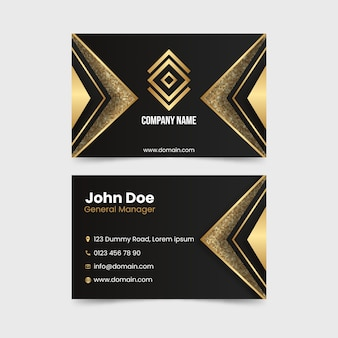 Elegant theme for business card template