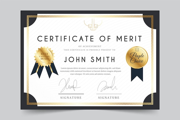 Elegant theme for certificate template