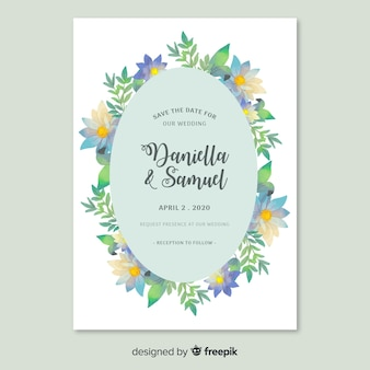Elegant theme for wedding invitation template