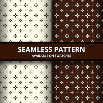 Elegant traditional indonesia batik seamless pattern background wallpaper in brown classic style set set in brown color