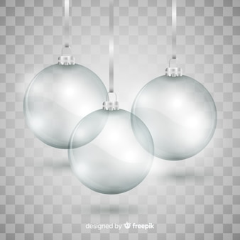 Elegant  and translucent christmas ball collection