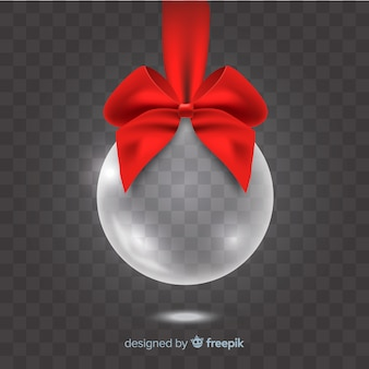Elegant translucent christmas ball