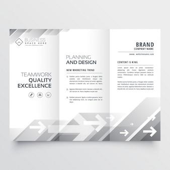 Elegant trifold brochure in gray shade