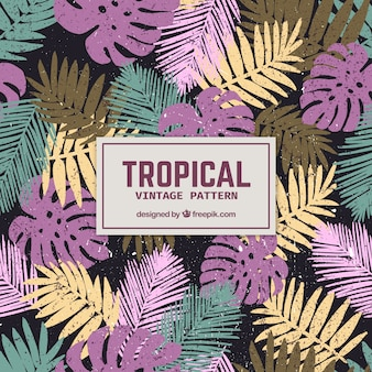 Elegant tropical pattern with vintage style