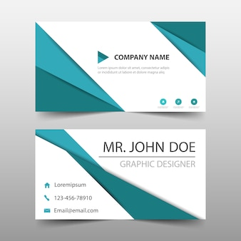 Elegant turquoise commercial business card