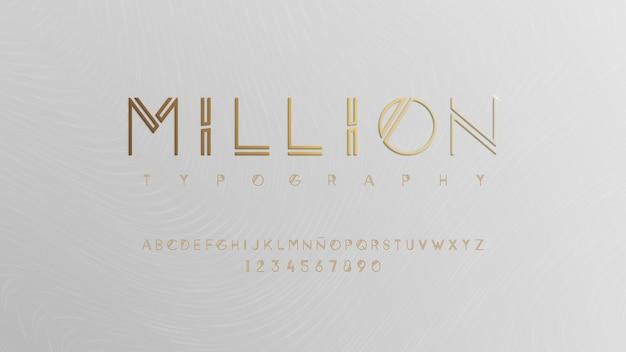 Elegant typeface with premium effect