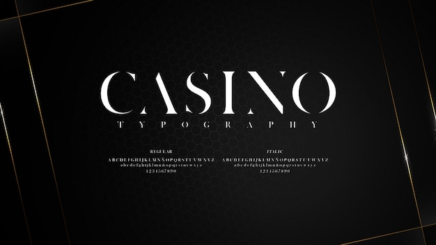 Elegant typeface with sharp endings