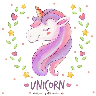 Elegant unicorn background