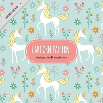 Elegant unicorn flora pattern
