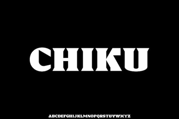 Elegant uppercase font luxury and unique alphabet